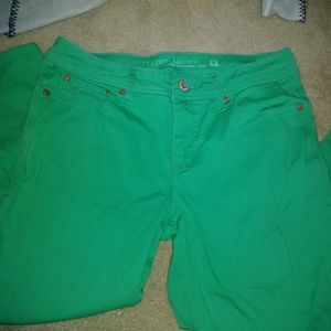 Faded glory dark green jeans!